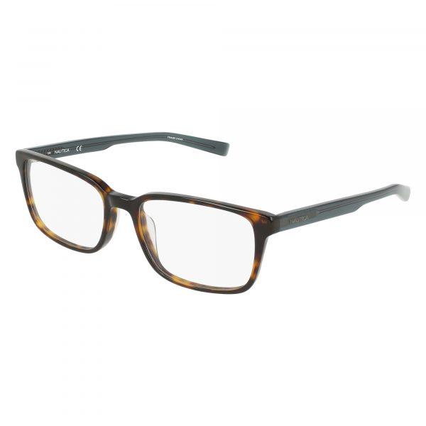 Brown Nautica N8144 Eyeglasses - Plastic