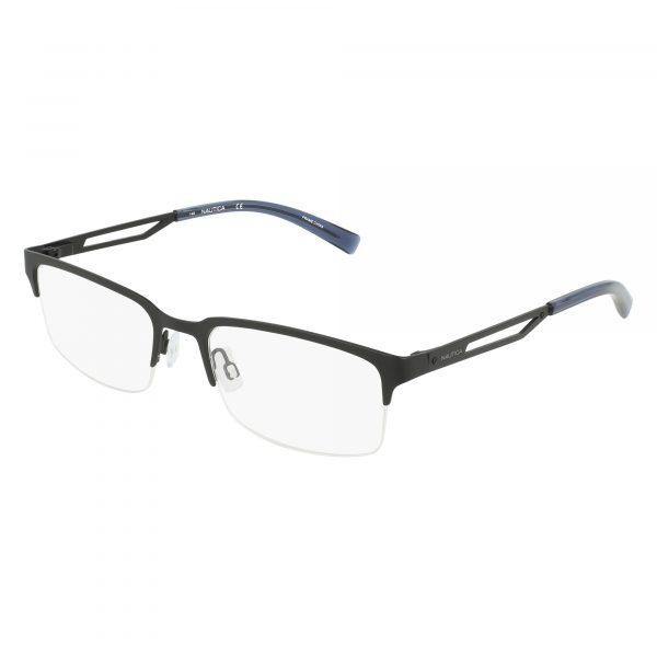 Black Nautica N7290 Eyeglasses - Semi-Rimless