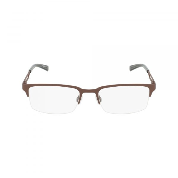 Brown Nautica N7290 Eyeglasses - Semi-Rimless