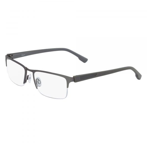 Black Flexon E1040 Eyeglasses - Semi-Rimless