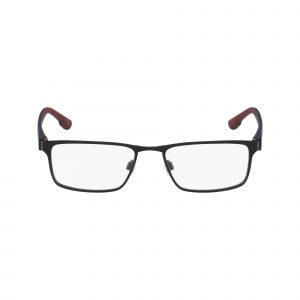 Black Flexon E1041 Eyeglasses - Semi-Rimless