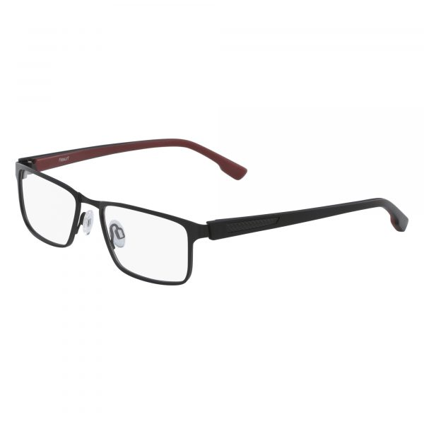 Black Flexon E1041 Eyeglasses - Semi-Rimless