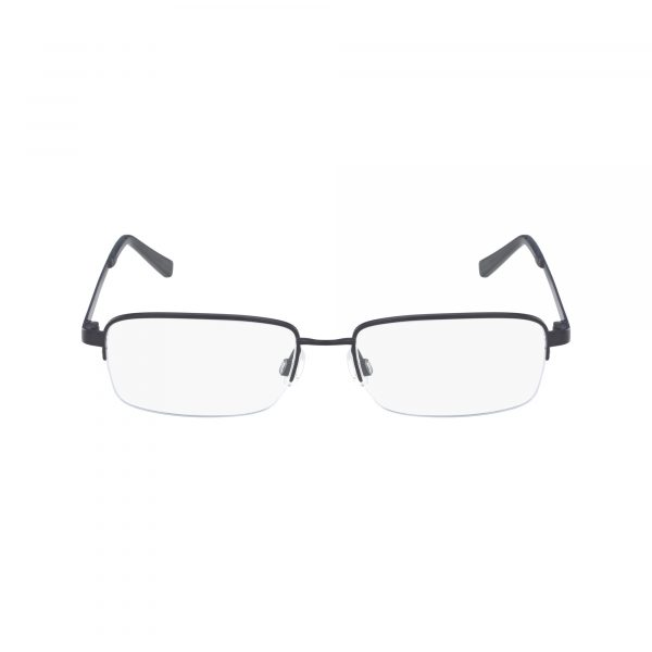 Blue Flexon CLAY 600 Eyeglasses - Semi-Rimless