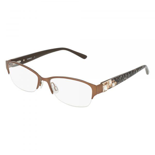 Brown Bebe BB5151 Eyeglasses - Semi-Rimless