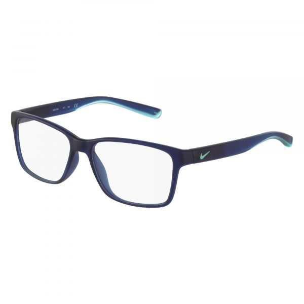 Navy Nike 7091 Eyeglasses - Plastic