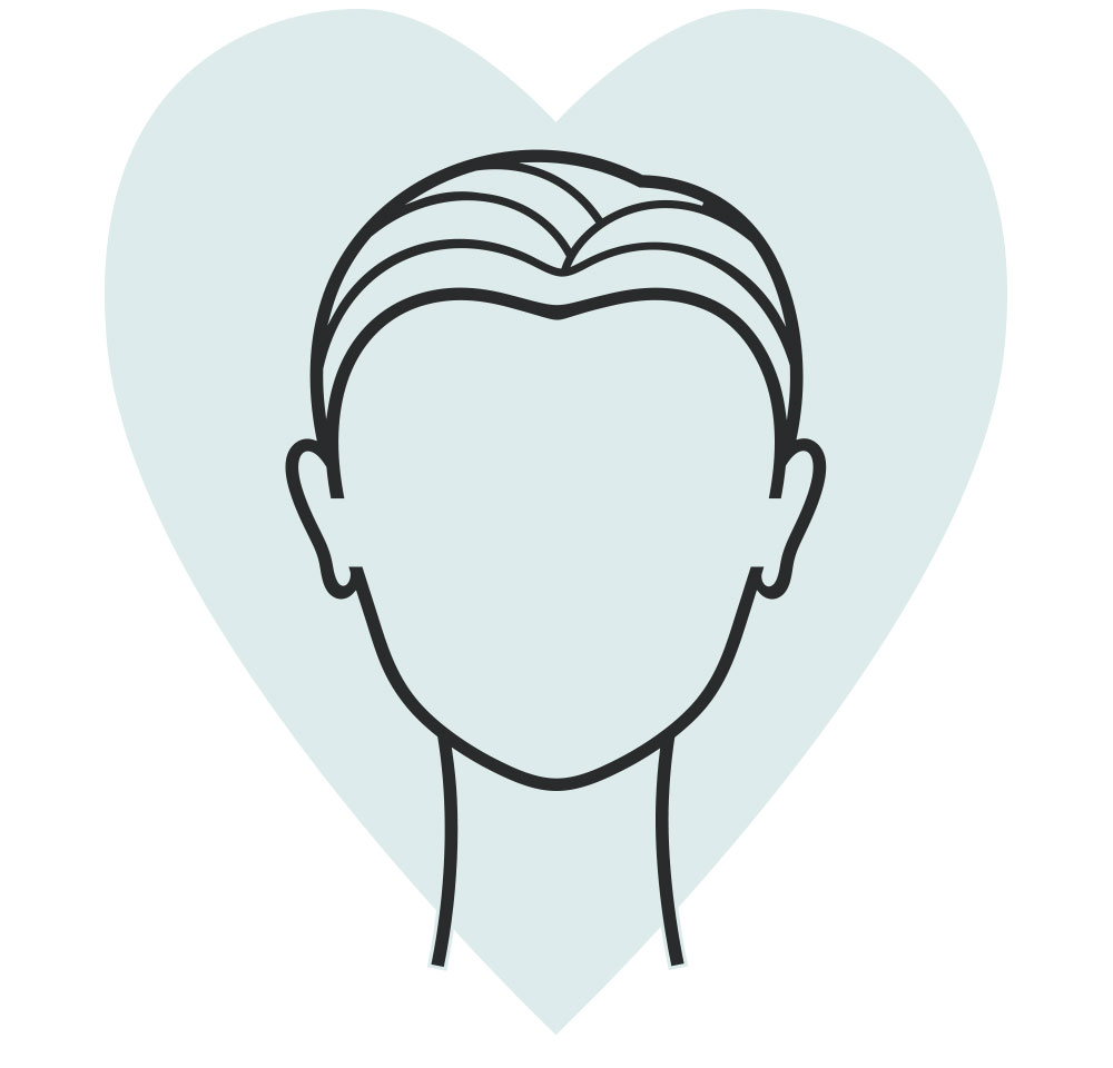 heart shaped face icon
