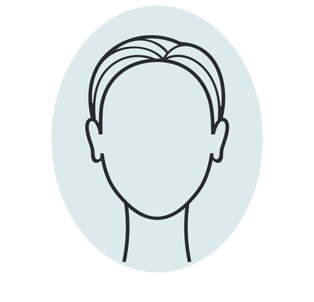 oval shaped face icon