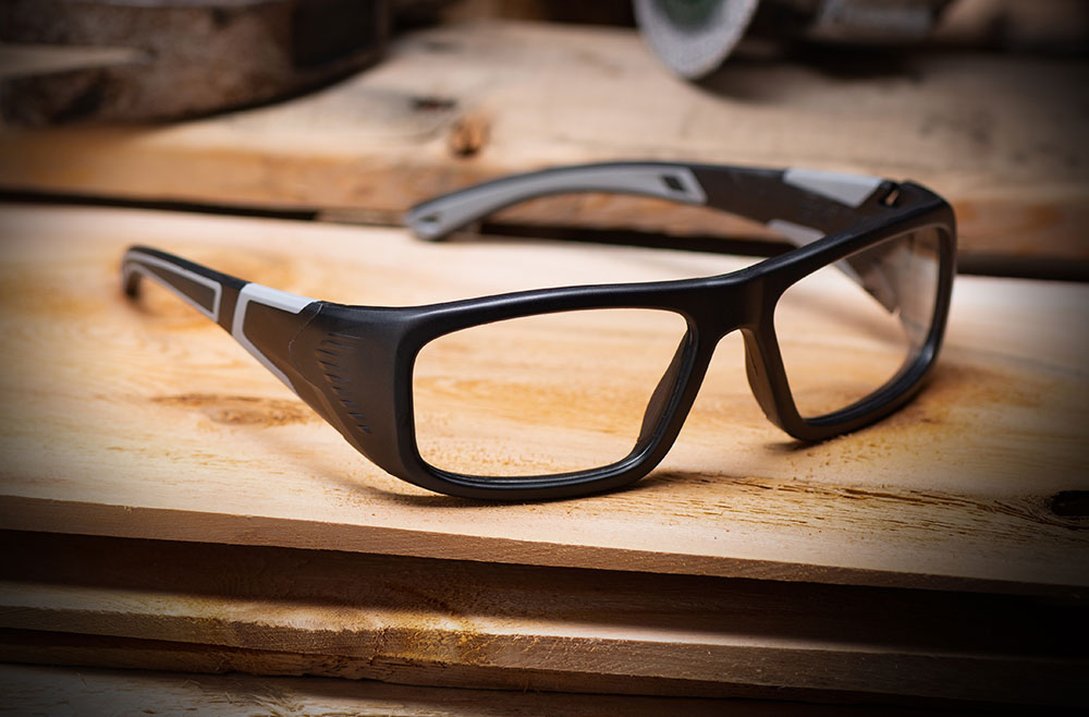 black safety eyeglasses