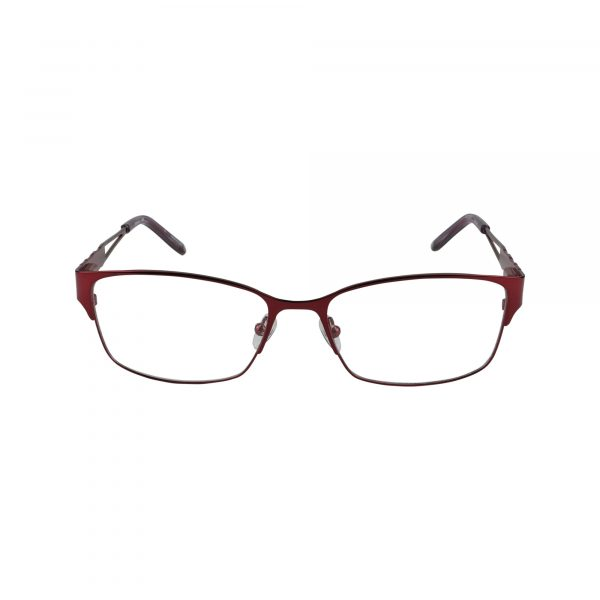 Taylor Red Glasses - Front View