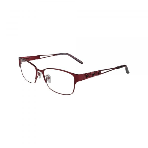 Taylor Red Glasses - Side View