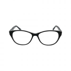 Ravennati Black Glasses - Front View