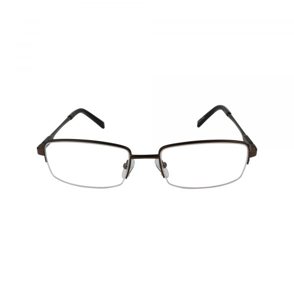 201 Brown Glasses - Front View