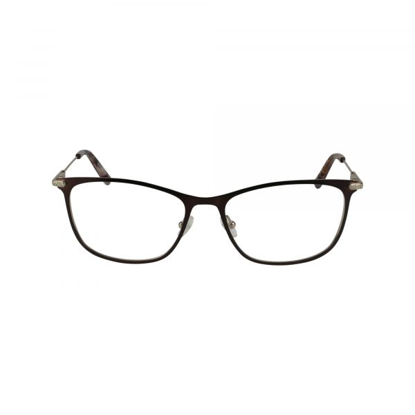 J489 Brown Glasses - Front View