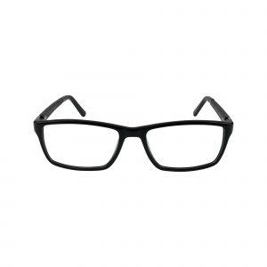 GR15 Black Glasses - Front View