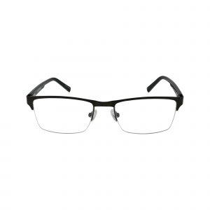 Q108 Black Glasses - Front View