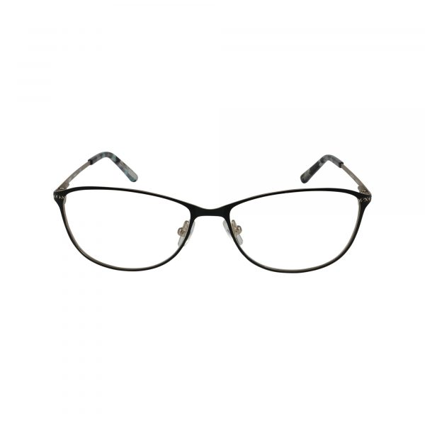 Sarasota Black Glasses - Front View