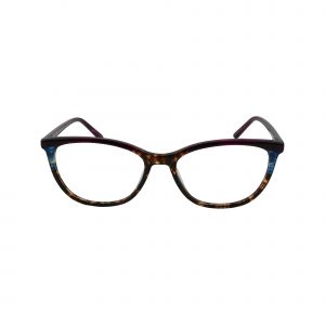 Biscayne Brown Glasses - Front View