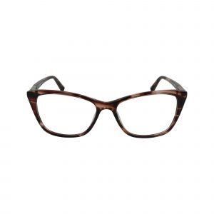 J777 Brown Glasses - Front View