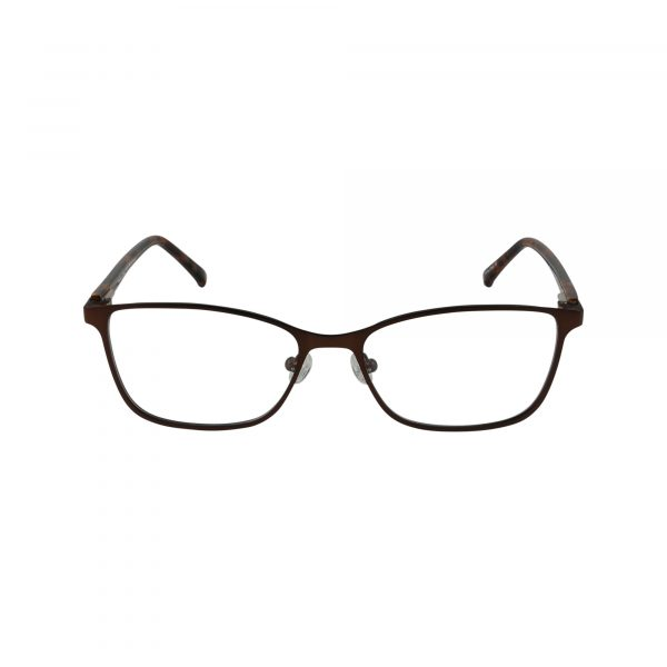 Auburn Brown Glasses - Front View