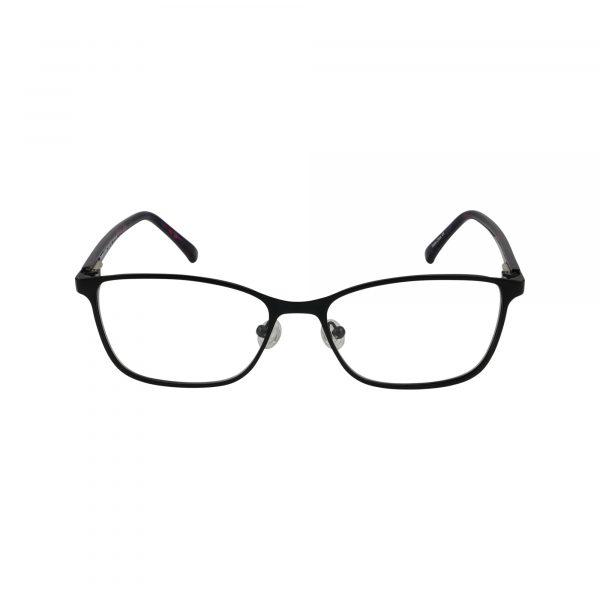 Auburn Black Glasses - Front View