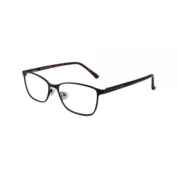 Auburn Black Glasses - Side View
