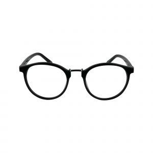 Flint Black Glasses - Front View