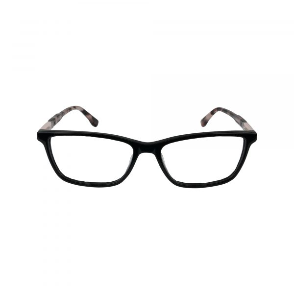 145 Black Glasses - Front View