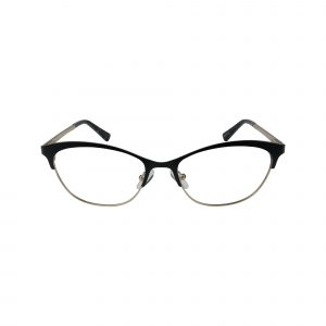K218 Black Glasses - Front View