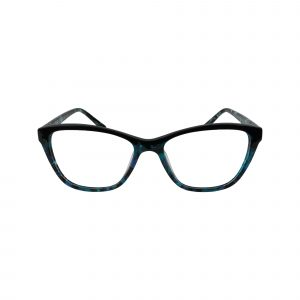 K206 Blue Glasses - Front View