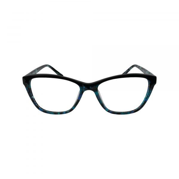 K206 Blue Glasses - Front View