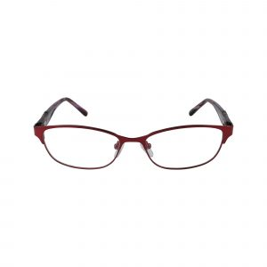 K181 Red Glasses - Front View