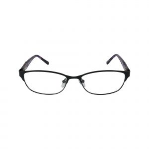 K181 Black Glasses - Front View