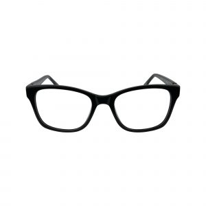 K214 Black Glasses - Front View