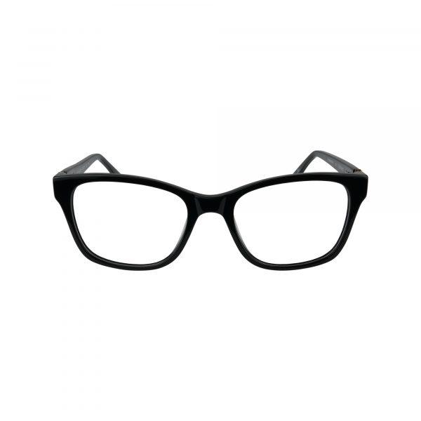 K214 Black Glasses - Front View