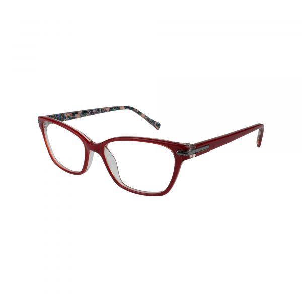 Sela Red Glasses - Side View