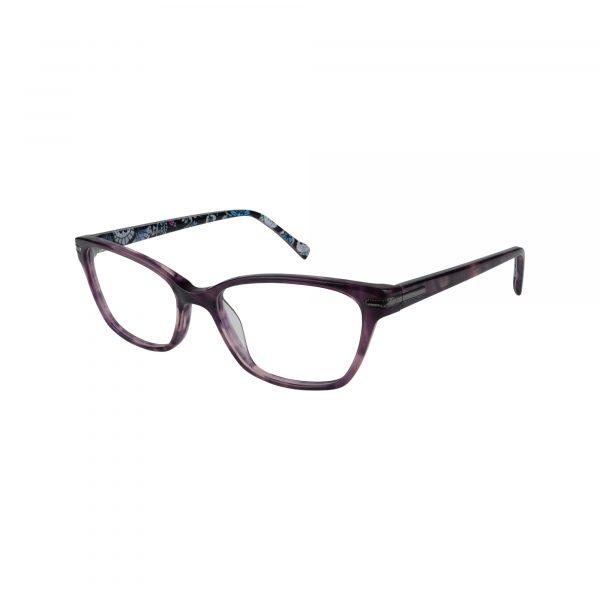 Sela Purple Glasses - Side View