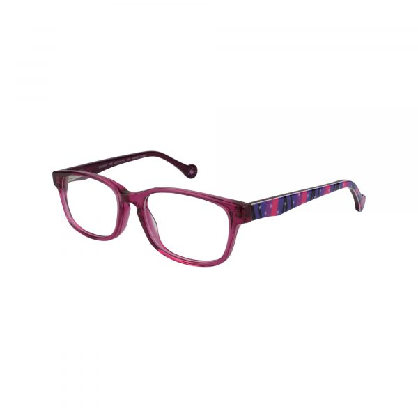 Bright Pink Glasses - Side View