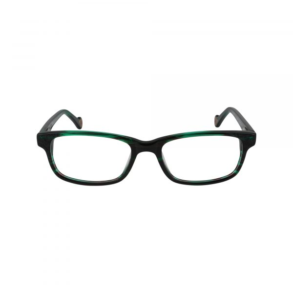 Honesty Green Glasses - Front View