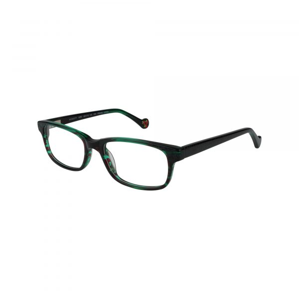 Honesty Green Glasses - Side View