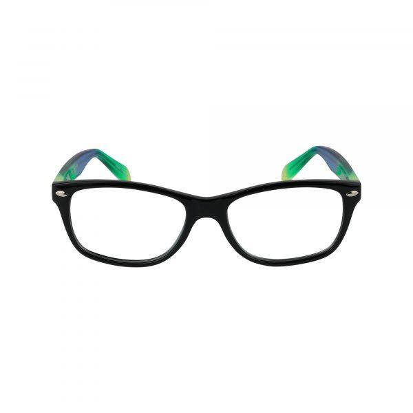 Tye Black Glasses - Front View