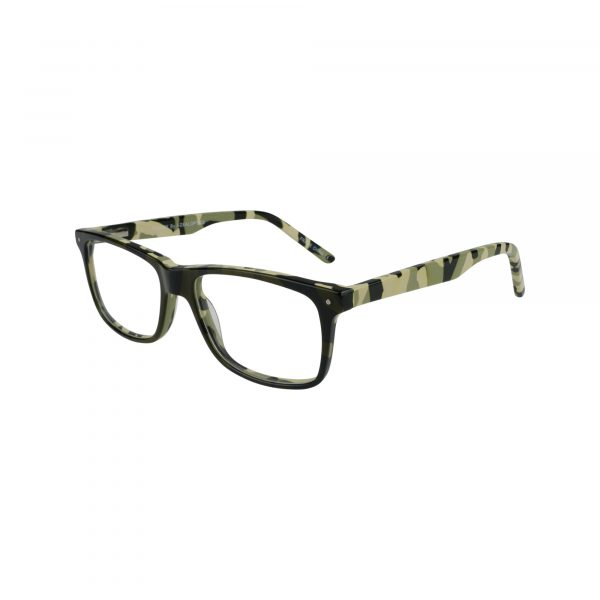 Rowdy Green Glasses - Side View