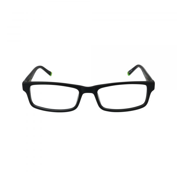 R410 Black Glasses - Front View