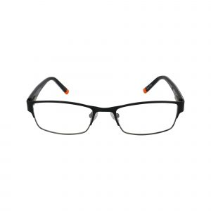 R411 Black Glasses - Front View