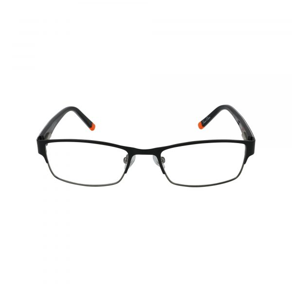 R411 Black Glasses - Front View