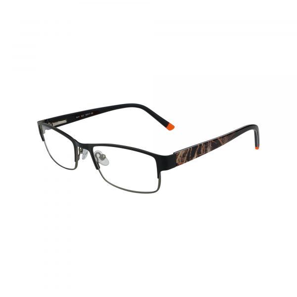 R411 Black Glasses - Side View