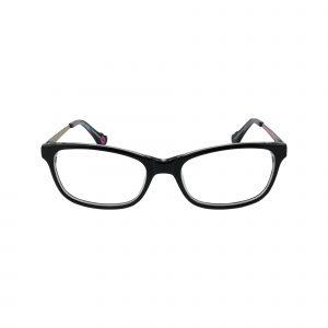 HK76 Black Glasses - Front View