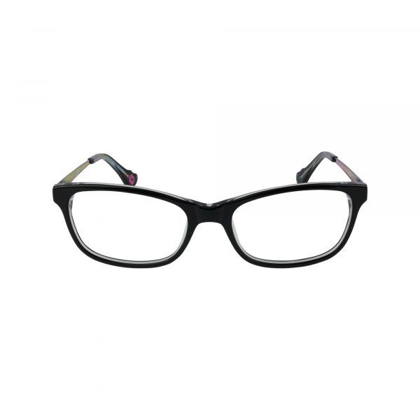 HK76 Black Glasses - Front View