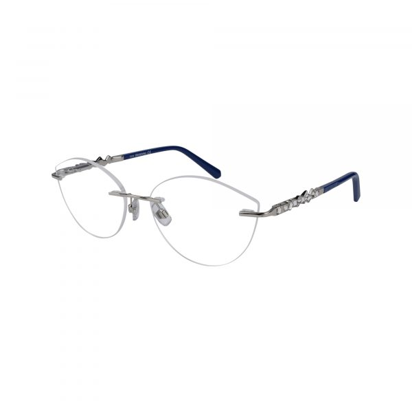 5346 Silver Glasses - Side View