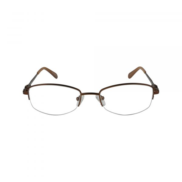 602 Brown Glasses - Front View