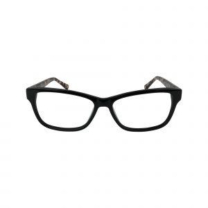 L616 Black Glasses - Front View